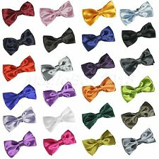 Men's Adjustable Tuxedo Classic Bowtie Solid Color Neckwear Bow Tie Pre-Tied