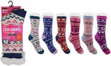 Ladies Fairisle Double Insulated Extra Warm Thermal Lounge Socks by Co-Zees