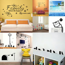 Removable Vinyl Home Room Decor Art Decal Bedroom Mural Wall Stickers DIY