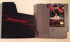 MIKE TYSON'S PUNCH-OUT!! Nintendo NES GAME w/ Sleeve Dust Cover TESTED WORKS