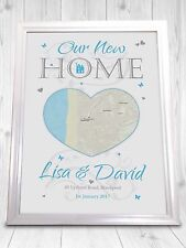 New Home 1st House Gift House Warming Personalised Print Sign Home Sweet Home
