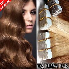"16-22"" Tape In Virgin Remy Human Hair Extension Weft Human Hair Extensions JY043"