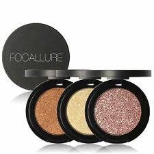 Metallic Press Powder Eyeshadow Lady Long Lasting Fashion Glitter Eyeshadow