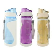 Outdoor Sport Gym Hiking Cycling Travel Water Drinking Bottle Cup 650ML Flip-top