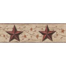 "Welcome Home Barn Star and Vine 15' x 6"" Scenic Border Wallpaper"