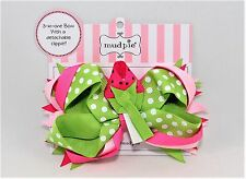 Mud Pie Lil' Chick Baby Girl Lollipop, Strawberry Or Ladybug 3-in-1 Bow 355026