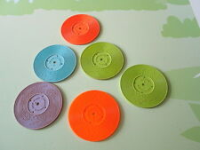 Lot 6 vintage replacement records for Fisher price music box record player