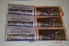 3 Chicago Tribune + 3 Chicago Sun Times Chicago Cubs 11/3/16 Newspapers