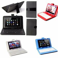 """USB Keyboard& Leather Case Pouch Cover for 7"""" Tablet Android Windows US"""