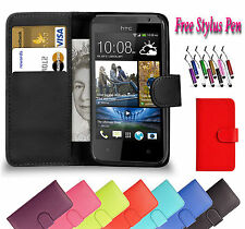 PU Magnetic Wallet Flip Leather Book Case Holder Cover For Htc One M8 UK