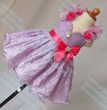 INFANT/TODDLER/BABY/CHILDREN LACE CRYSTAL BEADED PAGEANT PARTY DRESS G211F