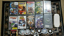 Lot 15 Sony PSP Games & 2 UMD Movies & Memory card/Case Tested Bundle