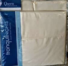 TRANQUIL NIGHTS Queen 6PC SHEET SET Ivory Solid~ LUXURY 800 softness Microfiber