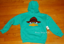 Disney Parks Phineas and Ferb Agent P Perry Fleece Hoodie Sweatshirt Boys XS-M