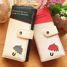 2017 Womens Lady Leather Clutch Wallet Long Card Holder Bifold Zip Purse Handbag