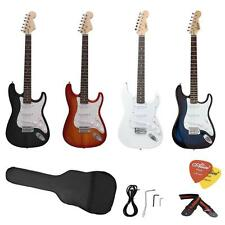 ST Full Size Electric Guitar Beginners+ Gig Bag Picks Strap+Free Ship New USA