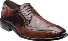 Mens Stacy Adams Dress Shoes Genoa 24937 Brown Multi Bicycle Toe Oxfords Leather