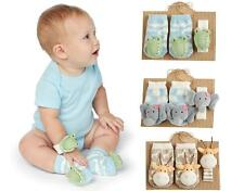 Mud Pie MK6 Safari Baby Girl / Boy Wrist Rattle & Rattle Toe Sock Set 2112255