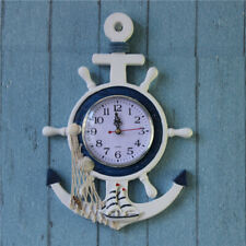 NEW Shabby Chic Nautical Wooden Fishing Boat Anchor Seaside Decor Blue and White