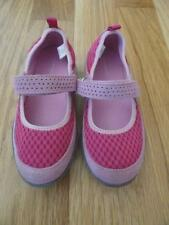 LANDS END PINK MARY JANE SNEAKERS SHOES 11 EUC GIRLS
