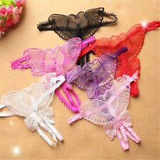 Fashion Women Lace V-string Briefs Panties Thongs G-string Lingerie Underwear