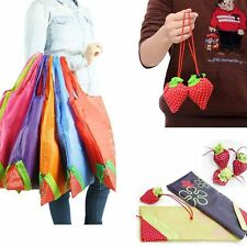 Recycle Cute 8 Colors Eco Handbag Strawberry Reusable Bag Shopping Tote Bags