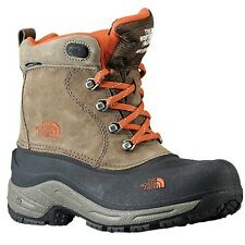 The North Face Boys Chilkat Lace Brown And Orange Boots Sizes 13 To 7  New