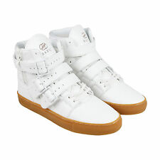 Radii Straight Jacket Vlc Mens White Leather High Top Sneakers Shoes