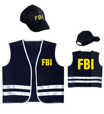 Boys Child Police officer Fbi Costume for Cop Fancy Dress Cosplay Outfit