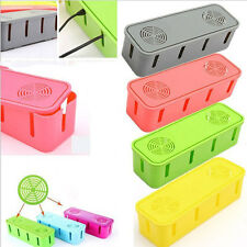 Power Electric Outlet Board Cables Strip Wire Case Storage Box Organizer