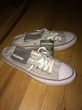 Converse NWT Light Gray Slip On Elastic Band Sneaker Size 7