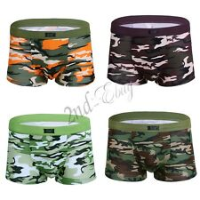 Sexy Mens Camouflage Boxer Briefs Underwear Trunks Shorts Bulge Pouch Underpants