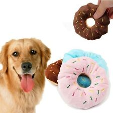 Sale Squeaky Sound Lovely Animal Play Squeaker Donut 3 Color Dog Toy Pet Toys