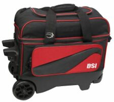 BSI 2-Ball Double Roller LARGE WHEELED Bowling Ball Bag in Assorted Colors