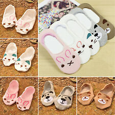 SUP 1 Pairs Womens Cute Non-Slip Boat Loafer Cotton Invisible Low Cut New Socks