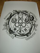 SATANIC MAGICK CIRCLE Baphomet Witchcraft Occult Magic Grimoire Gothic Pagan