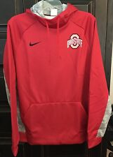 Nike Men's Ohio State Digital Therma Pullover Hoodie NWT, Large, Red w/Grey