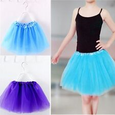 Children Kid Girls Dancewear Multicolor Tulle Tutu Skirt Princess Dressup
