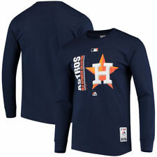 Houston Astros Majestic Authentic Team Icon Long Sleeve T-Shirt - Navy - MLB