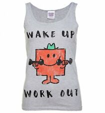Official Women's Mr Strong Wake Up Work Out Mr Men Vest