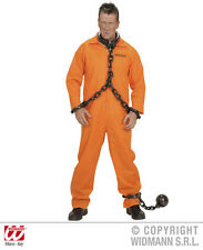 Mens Adult Orange County Jail Inmate for Prisoner Convict Fancy Dress Costume