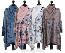 New Ladies Floral Lagenlook Tunic Top Women Floral Tunic top Plus sizes