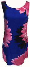 WOMENS BLUE PINK SUMMER DRESS FLORAL DAISY PRINT SLEEVELESS TUNIC DRESS HOLIDAY