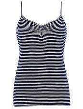 NEW - EX MARKS & SPENCER NAVY/WHITE STRIPED CAMISOLE/VEST TOP - SIZES 10 - 22