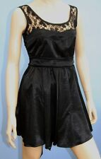 BNWT Miso Short Black Satin & Lace Dress Size 8, 10 or 12 RRP £29.99