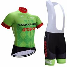 2017 Cannondale Cycling Team Kit Short Sleeve Jersey Padded Bib Shorts Set