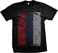 Distressed Oversized Russian Flag - Russia Pride Mens T-shirt