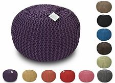 50CM POUFFE LARGE HANDMADE MOROCCAN POUF CHUNKY KNIT KNITTED  FOOT STOOL CUSHION