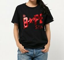 A BATHING APE FOIL BAPESTA TEE 5 colors Tops Printed Womens T-shirt From Japan