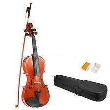 ammoon Full Size 1/4 1/2 3/4 4/4 Solid Wood Violin +Case Bow Rosin Hot T9H0